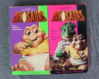 DINOSAURS - 1990s TV Series - 2 VHS Tapes - 4 episodes
