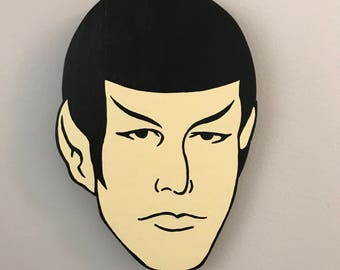 Cartoon Spock Wood-cutout