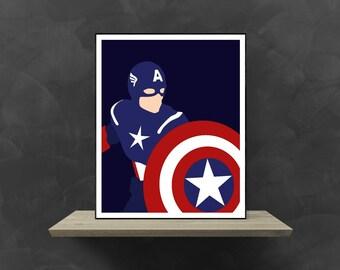 Captain America Minimalist Poster | Marvel Poster Marvel Superhero Marvel Avengers Avengers Costume Avengers Movie Avengers Assemble