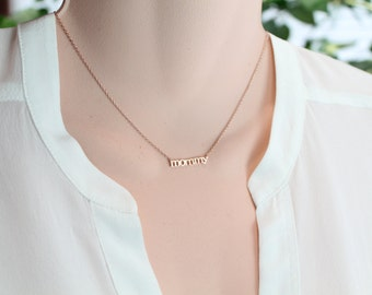 Mommy necklace etsy aloadofball Choice Image