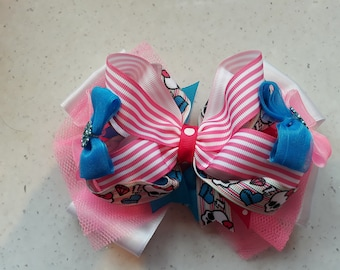 """5"""" stacked boutique bow - sugar skull"""