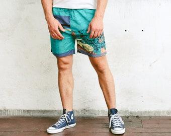 Vintage Summer Shorts . 90s Surfer Shorts Beach Shorts Board Shorts Vacation Shorts Pants Swim Trunks Holiday Shorts . size Extra Large