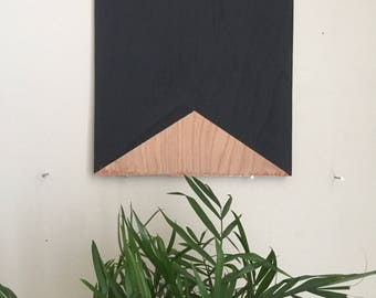 "Black Triangle 012, 8""x8"" painting on oak plywood"