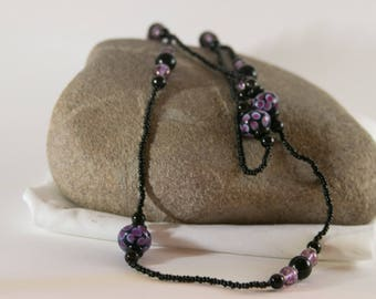 Pops of Purple Long Necklace