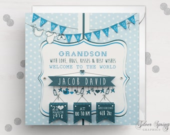 Grandson Birth Card