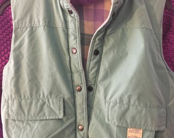 Mint Green /Puffy Lined Vest /by Traditional Classics/Size S