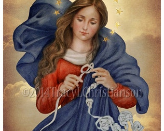 Our Lady Undoer of Knots Catholic Art Print, Blessed Virgin Mary #4042