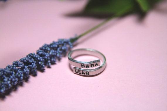 Mama Bear | Momma Bear | Mommy Ring | Wrap Around Ring | Mama Bear Ring | Momma Bear Gift | Mom from Son | Mom From Husband
