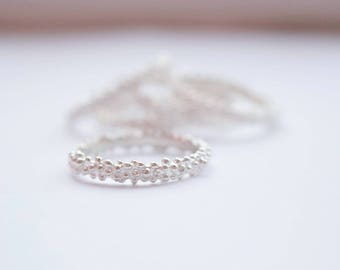 airy silver ring, free shipping, decorations