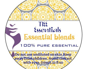 100% pure essential oil blends  - aromatherapy