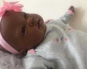 Reborn Baby Fake Lifelike Girl Ethnic AA Ellie CE Tested 3+