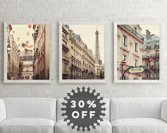 Paris Art Prints, Paris Photography,  Set of 3 Prints, Fine Art Prints, Paris Prints Set, Travel, Wall Art Prints, Paris Decor, Eiffel Tower