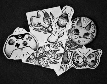 Set of Stickers and badges