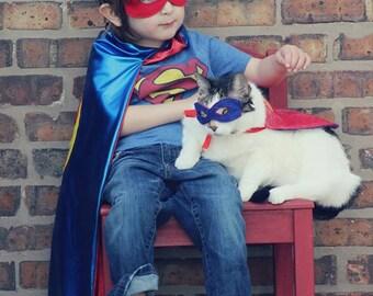 Pet Super hero cape and mask set