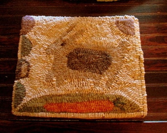 Quick As A Bunny Primitive Rug