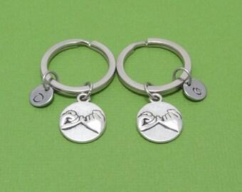 Pinky Swear Keychain, Pinky Promise Keychain, Best Friend Gift, Best Friend Keychain, Couple Gift, Couple Keychain, Friendship, Personalized
