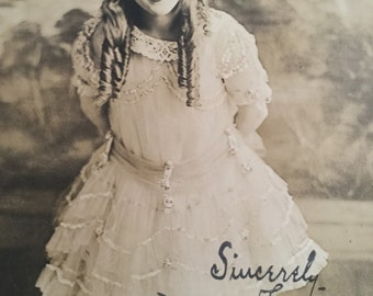 Original Signed Mary Pickford 1920's Silent Film Star Photograph