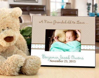 Baby Photo Frame for Grandparents : Personalize with Baby's Name and Birthday