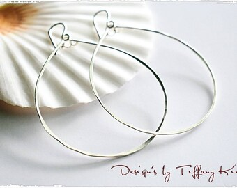 Sterling silver drops, hand crafted, hand forged, Sterling silver earrings