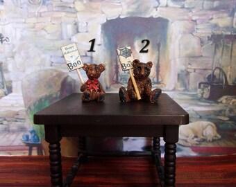 Halloween.Bears. Dollhouse. Scale 1:12