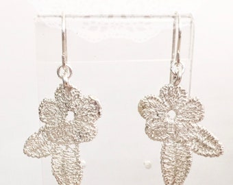 Silver Earrings-Flower Race part2