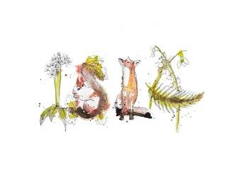 Illustrated Name Isla