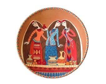 Decorative plate \ Armenian dinner\  hand painted plate wall decor ceramic plate  sc 1 st  Etsy & Armenian wall art | Etsy
