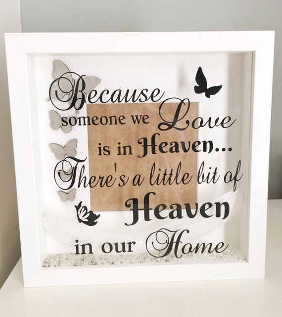 Memorial picture frame, family loss, condolence gift, in memory of ...