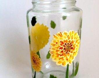 Custom Hand Painted Jar
