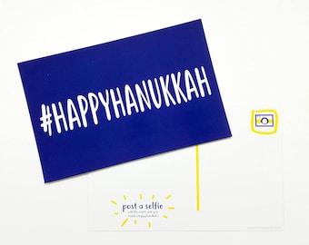Hashtag Happy Hanukkah Postcards