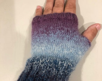 Knitted Gloves - Hand Warmers -Knitted Fingerless Gloves - Ladies Gloves - Fingerless Gloves - Fingerless Mittens - Knitted Mittens -