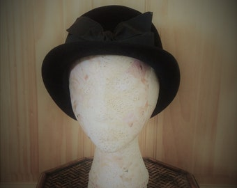 Black Velour Hat