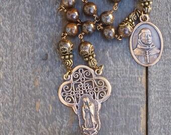 Natural Bronze Heirloom Rosary