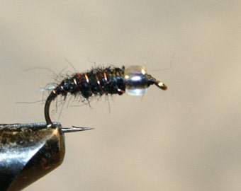 Fly Fishing Lure - Fly Fishing Flies - Nymph - Made in Michian Fishing Lure - Black Thread - Number 10 Hook - Gifts for Fisherman - Men