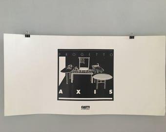 1980s Italian Vintage Poster - memphis milano style