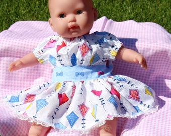 Baby doll dress, doll dress fits 15 and 16 inch dolls like bitty baby dolls, dolls, doll dress, doll clothes