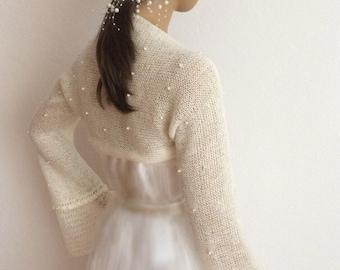 Knitted bridal shrug | Etsy