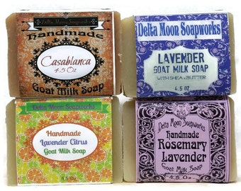 Handmade Goat Milk Soap, Lavender soap, Soaps, Gift for her, ready to ship, Shea Butter soap, cold process,  free shipping, birthday gift