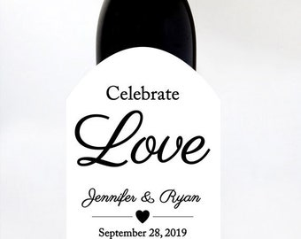 Custom Labels, Wine Labels, Wedding Wine Labels, Wedding Gift, Personalized Names, Premium Labels