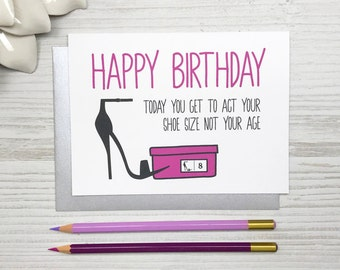 Funny Birthday Card, Funny Birthday Card for Her, Friend Birthday Card, Girlfriend Birthday Card, Charity Card, Women Funny Card
