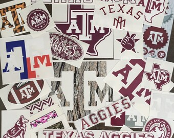 5 Pack Texas A&M Decal Mystery Bundle