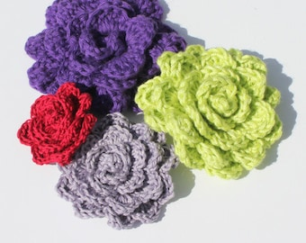 CROCHET PATTERN - Crochet Flower Photo Tutorial Very Easy