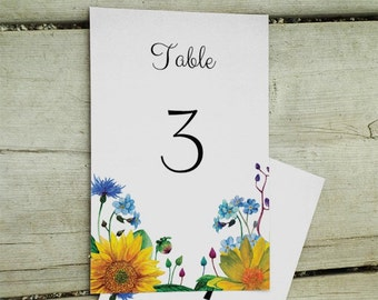 Rustic wedding table numbers Editable table numbers template Diy table numbers Printable table number cards Wedding table decor 1W27