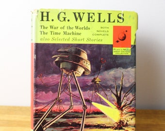H.G. Wells The war of the worlds The time machine 1963 hardcover