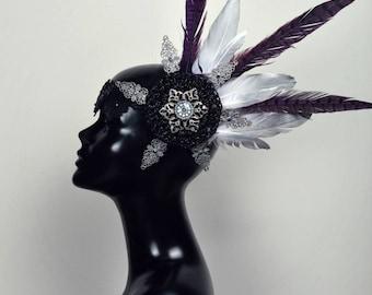 Silver/ purple headpiece
