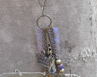 Purple Victorian Charmed Necklace