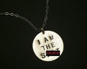 Shit, Self Esteem, Swear Words, Flawless, I Woke Up Like This,Sterling Silver,Friend Gift,Circle Charm,Bad Ass,Bad Girl,I am the Shit,Mature