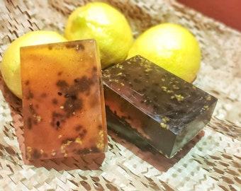 Lemon poppy and sesame with aloe Exfoliating and moisturizing bar (3 bars)