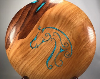 Sassafrass Platter with Turquoise Inlay