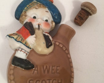 A Wee Bit of Scotch novelty flask